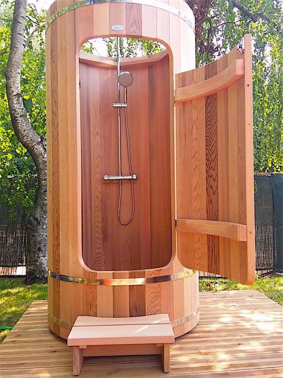 cabine de douche en bois homeezy